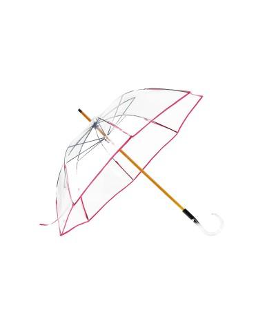 """→ Parapluie """"Transparent Classique"""" - Fuchsia - Maison Pierre Vaux Fabricant Français"""
