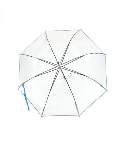 """→ Parapluie """"Transparent Classique"""" - Bleu Clair - Maison Pierre Vaux Fabricant Français"""