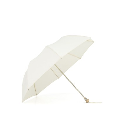 "→ Parasol ""Folding Light Cotton"" - Ecru handcrafted in France By the French Umbrellas Manufacturer Maison Pierre Vaux"