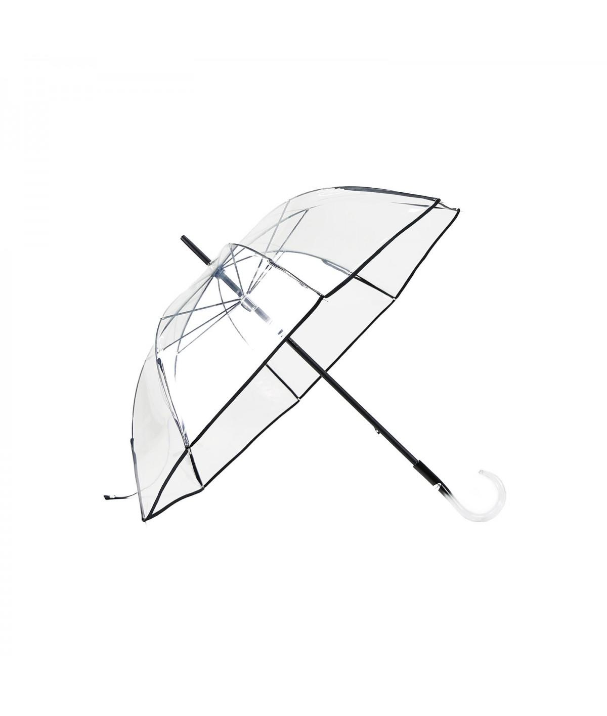 """→ Parapluie """"Transparent Classique"""" - Noir - Maison Pierre Vaux Fabricant Français"""