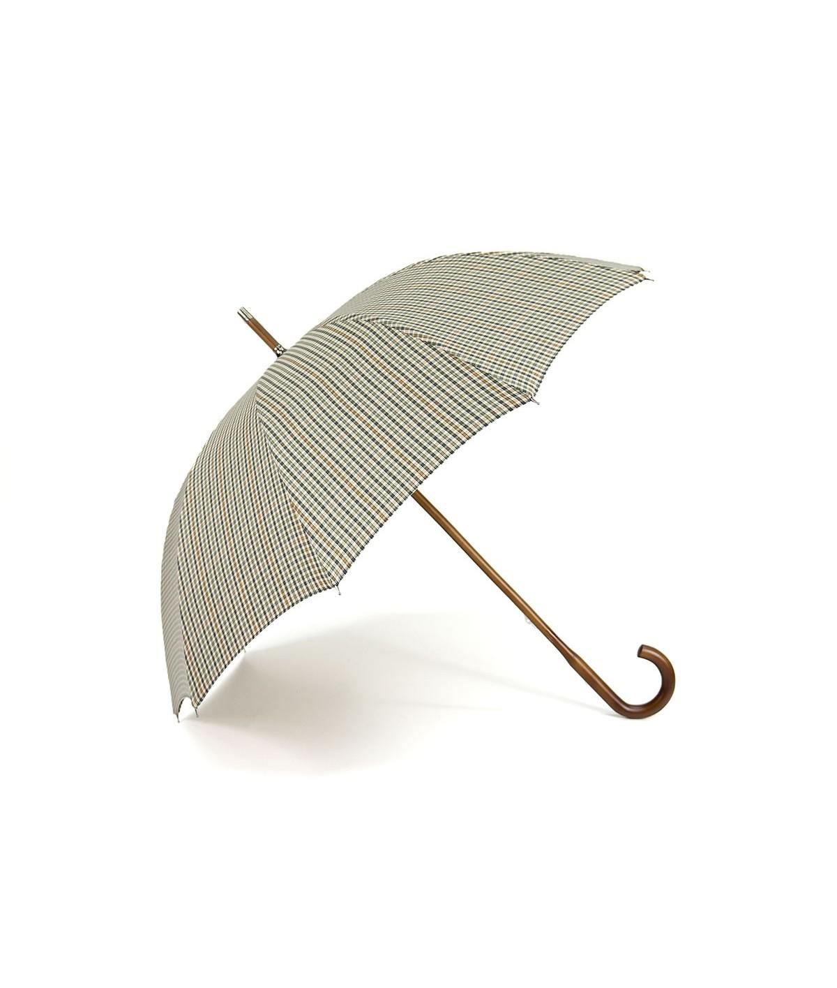"""→ Parapluie Monture Anglaise """"So British"""" - Coll N°10 - Motif Petits Carreaux clairs"""