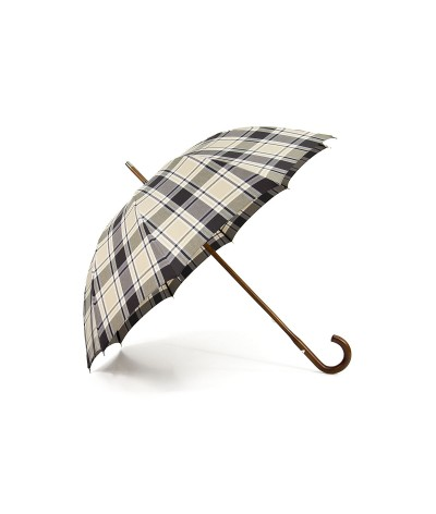 """→ The """"True Montage Anglais"""" Umbrella """"So British"""" - Beige and Chocolate by the French Umbrellas Manufacturer Maison Pierre Vaux"""