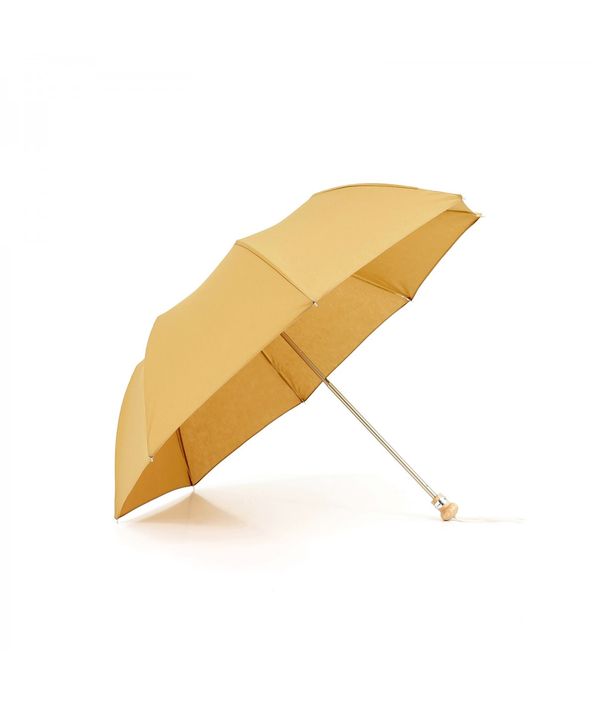 "→ Parasol ""Folding Light Cotton"" - Golden amber handcrafted in France By the French Umbrellas Manufacturer Maison Pierre Vaux"