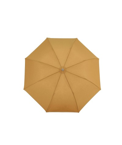"""→ Parasol """"Folding Light Cotton"""" - Golden amber handcrafted in France By the French Umbrellas Manufacturer Maison Pierre Vaux"""