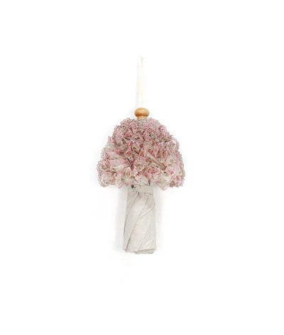 """→ Ombrelle """"Petite Lady Pliante -  Froufrou Rose -  Fabrication Française par Maison Pierre Vaux"""