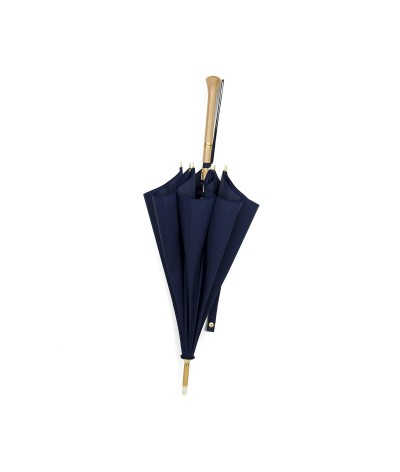 "→ ""Joséphine"" Parasol - Navy - Sun Umbrellas Handcrafted in France by the Umbrellas Manufacturer Maison Pierre Vaux"