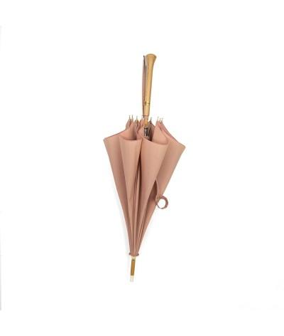 "→ ""Joséphine"" Parasol - Rosewood - Sun Umbrellas Handcrafted in France by the Umbrellas Manufacturer Maison Pierre Vaux"