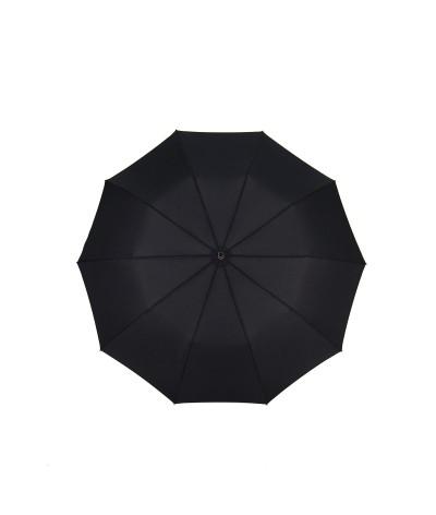"→ ""Folding Leather Covered Handle"" Umbrella - Automatic (10 ribs)"