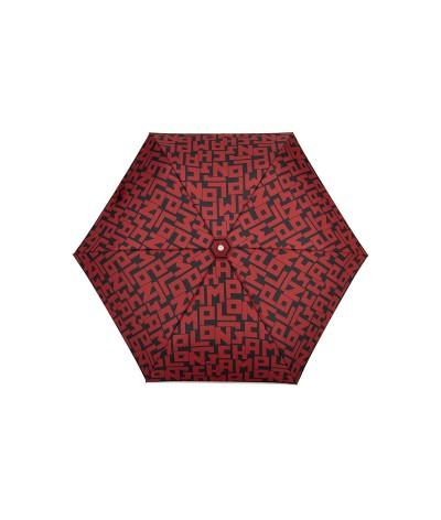 """→  Longchamp - Parapluie """"Le Pliage""""- Rouge Parapluie Accessoire de Luxe - Maison Pierre Vaux"""