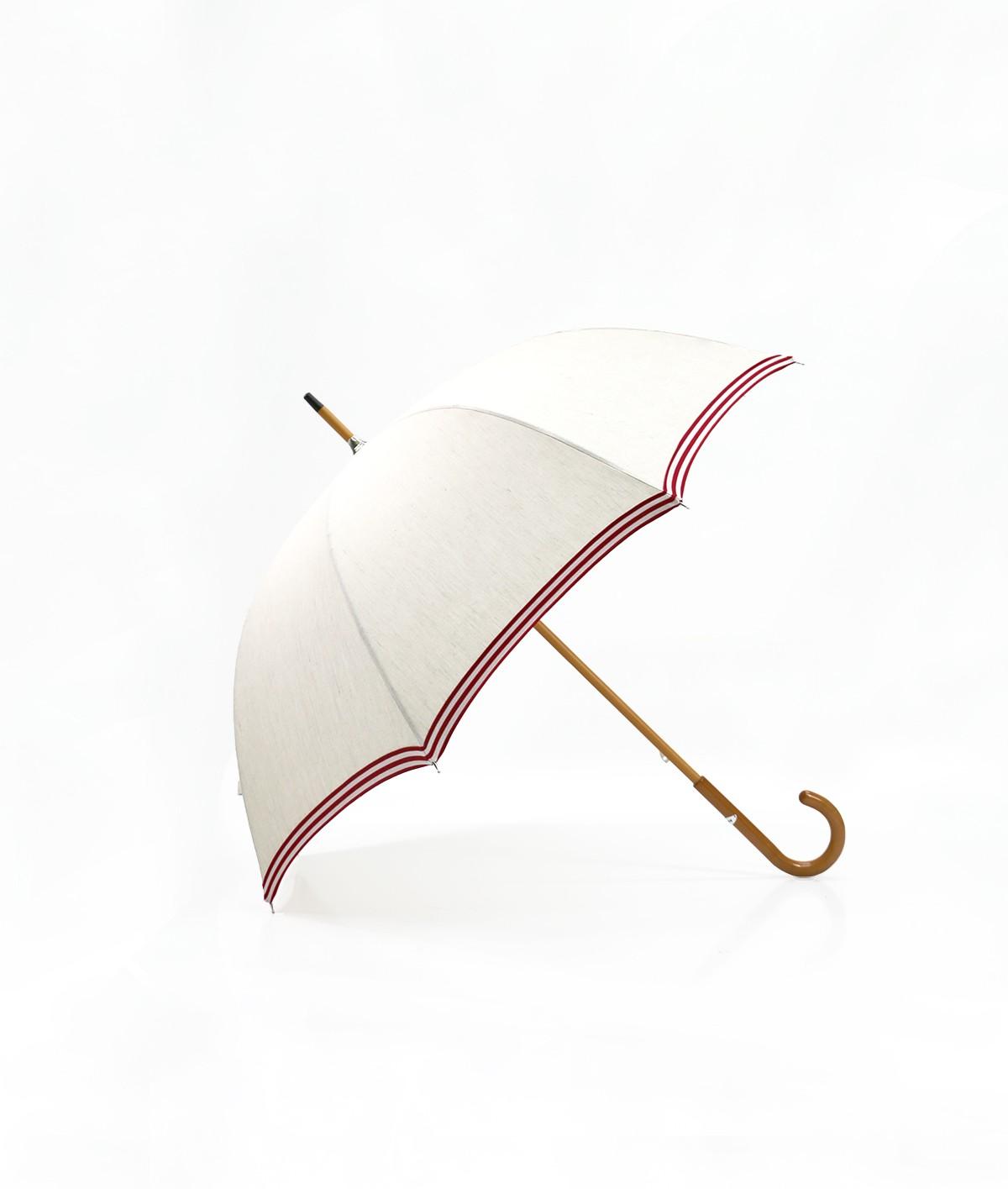 """→ Parapluie-Ombrelle Long  - Série Limitée """"Les Rayures"""" - Rouge - Ombrelle et Parapluie par la Parasolerie Maison Pierre Vaux"""