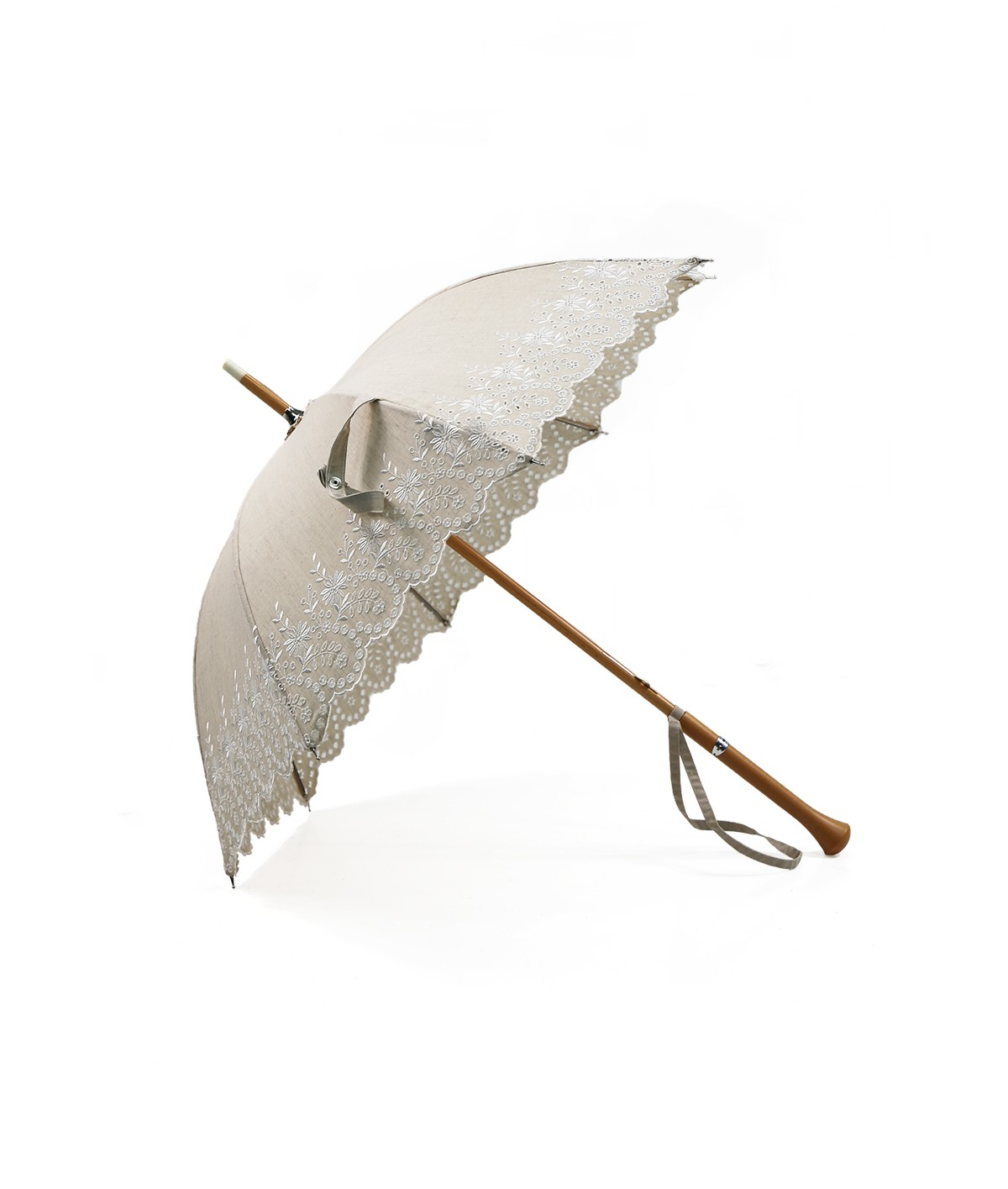 →  Parasol - English embroidery handcrafted in France by the French Umbrellas Manufacturer Maison Pierre Vaux