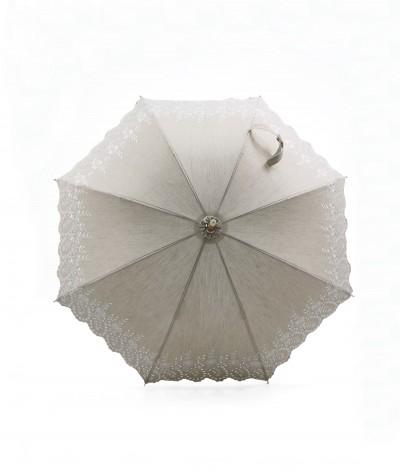 → Ombrelle à Broderie Anglaise - Longue - Issue de la Fabrication Made in France de la Maison Pierre Vaux