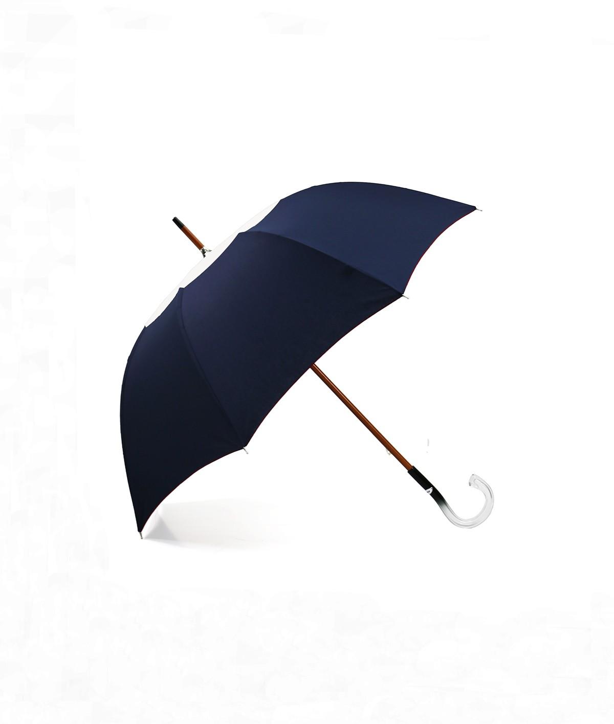 """→ Parapluie-Ombrelle - Série Limitée """"Les Bicolors"""" - Marine et Beige - Fabrication Made in France"""