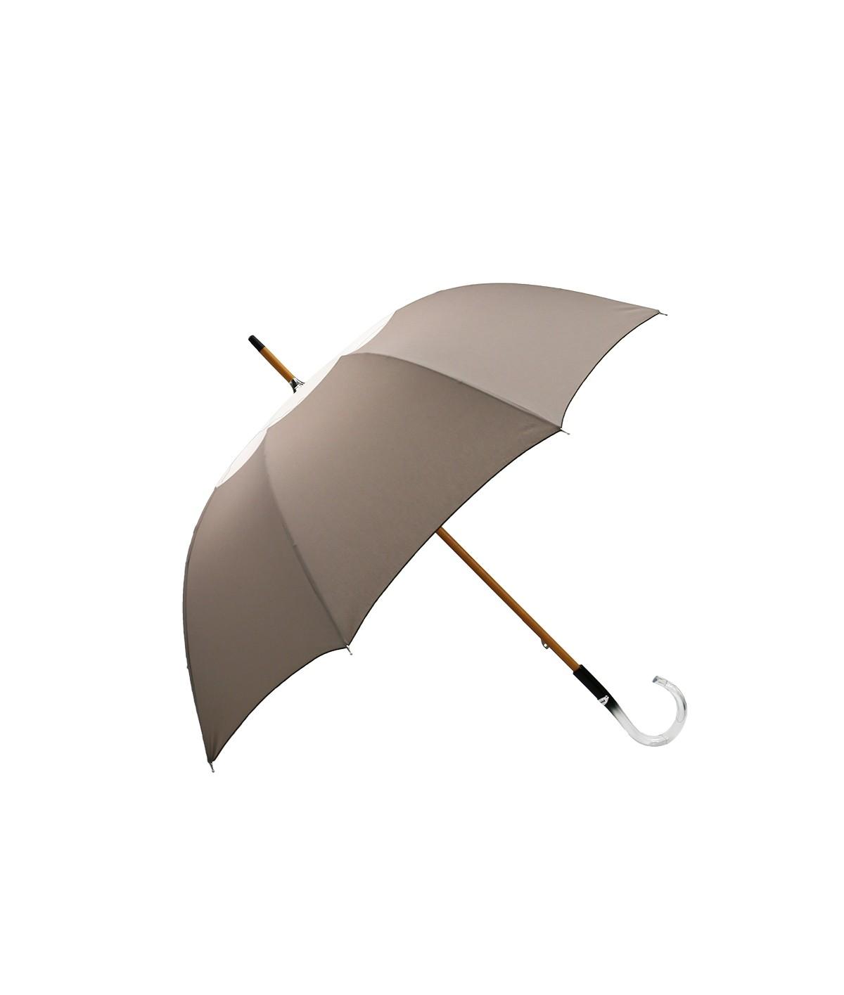 """→ Parapluie-Ombrelle - Série Limitée """"Les Bicolors"""" - Gris et Beige - Fabrication Made in France"""