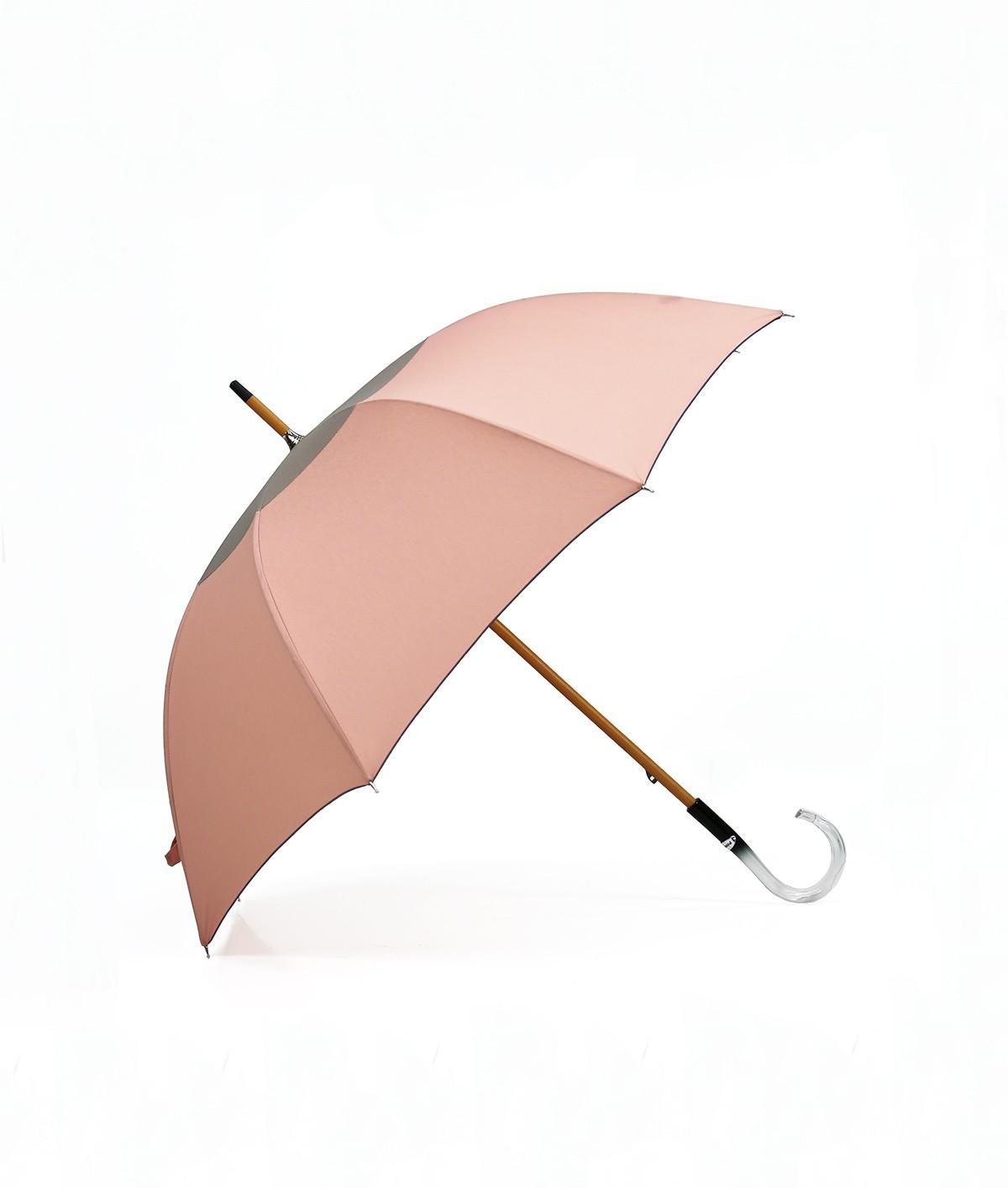 """→ Parapluie-Ombrelle - Série Limitée """"Les Bicolors"""" - Rose et Gris - Fabrication Made in France"""