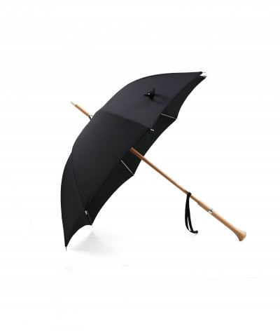 "→ ""Joséphine"" Parasol - Black - Sun Umbrellas Handcrafted in France by the Umbrellas Manufacturer Maison Pierre Vaux"