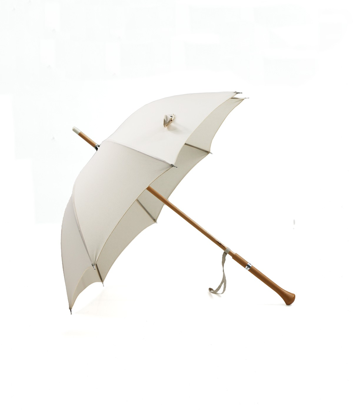 "→ ""Joséphine"" Parasol - Ecru - Sun Umbrellas Handcrafted in France by the Umbrellas Manufacturer Maison Pierre Vaux"