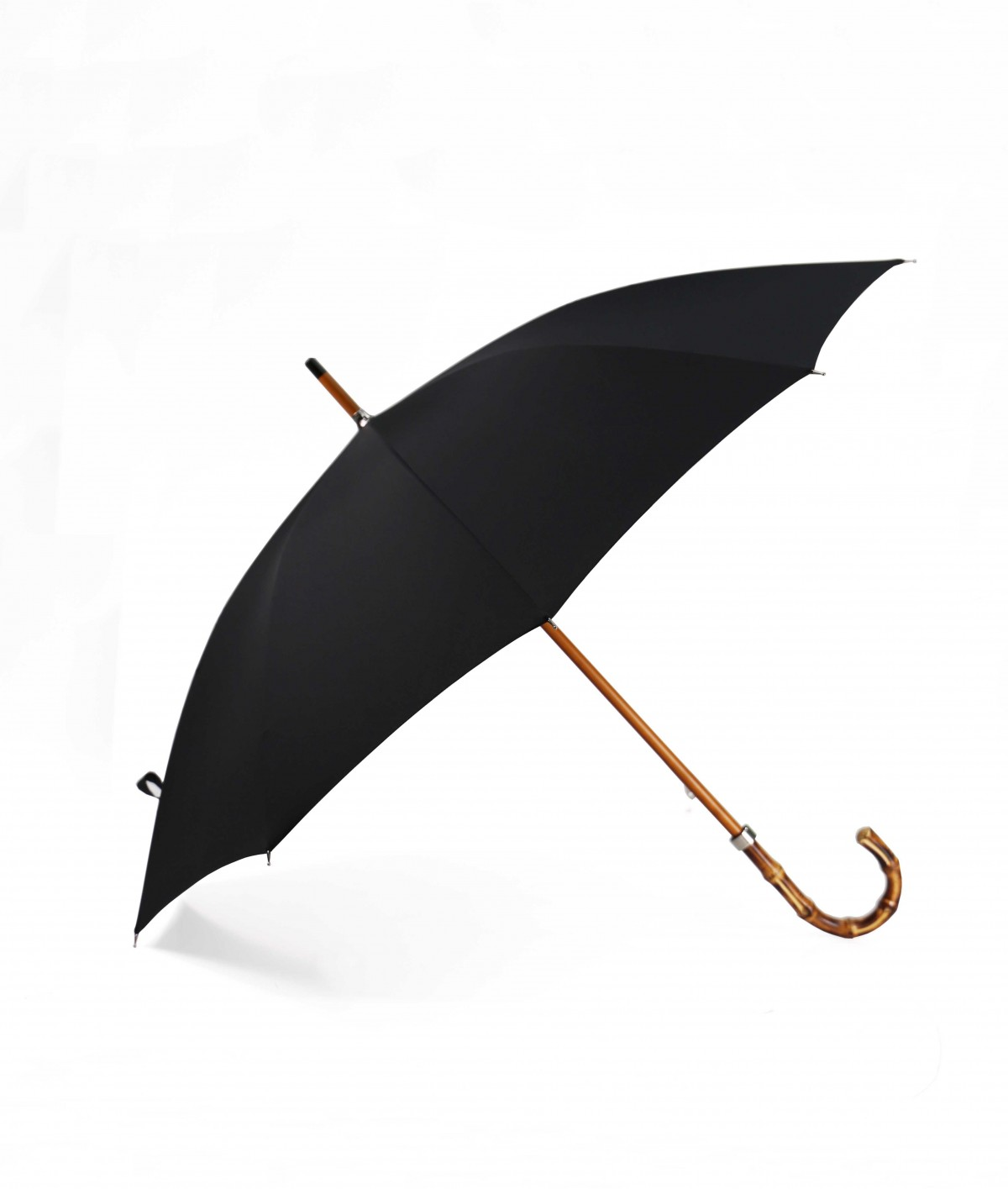 """→ """"The exotic"""" Umbrella Black - Handcrafted by the French Umbrellas Manufacturer Maison Pierre Vaux"""