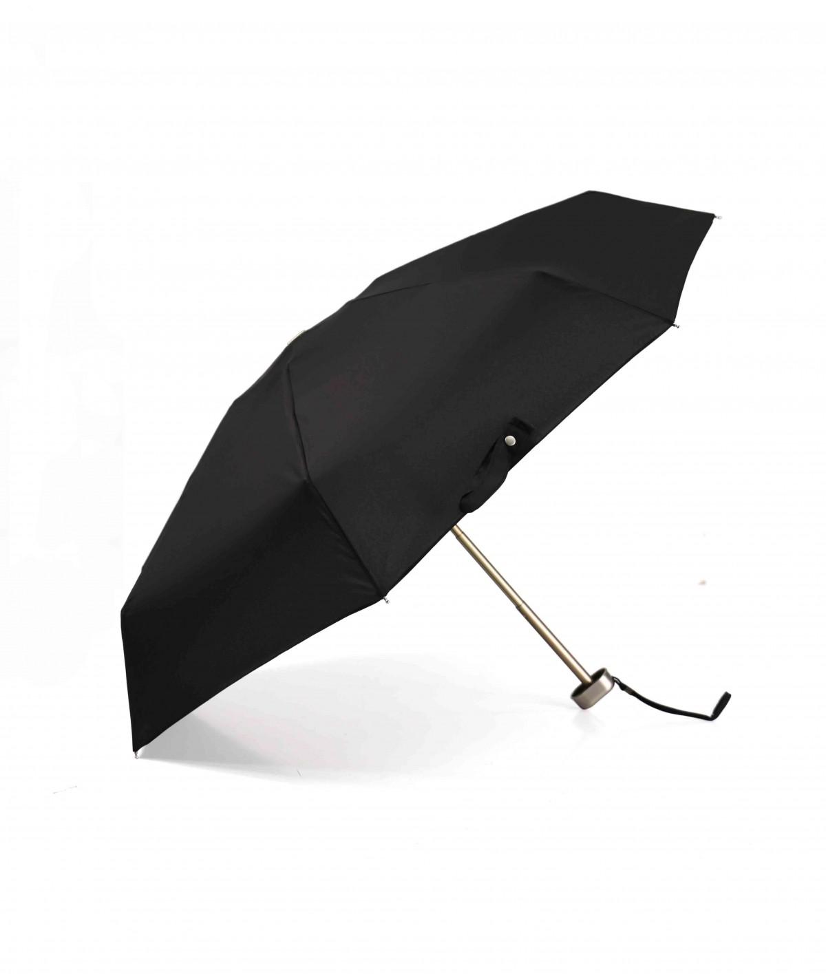"""→ Parapluie """"Le P'tit Pocket""""  Noir - Micro Plat manuel est un mini parapluie Pliant Pratique et Léger"""