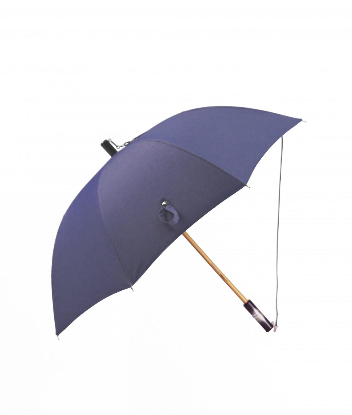 """→ Parapluie Le """"Denim 02 - Bandouliere"""" - Parapluie Long en tissu jean's - Made In France - Maison Pierre Vaux"""