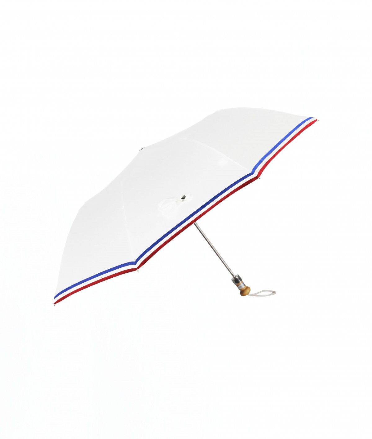 """→ """"The Made in France"""" Umbrella - White - Automatic folding - Handcrafted in France By Maison Pierre Vaux"""