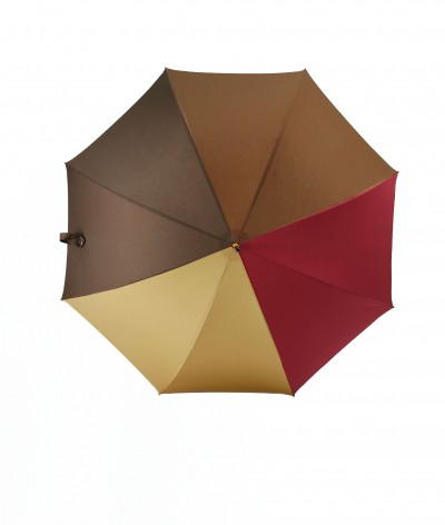 """→ Parapluie """"L'Harmonie des Teintes""""  - Col. N°7 - Long manuel - Fabrication Française - Maison Pierre Vaux"""