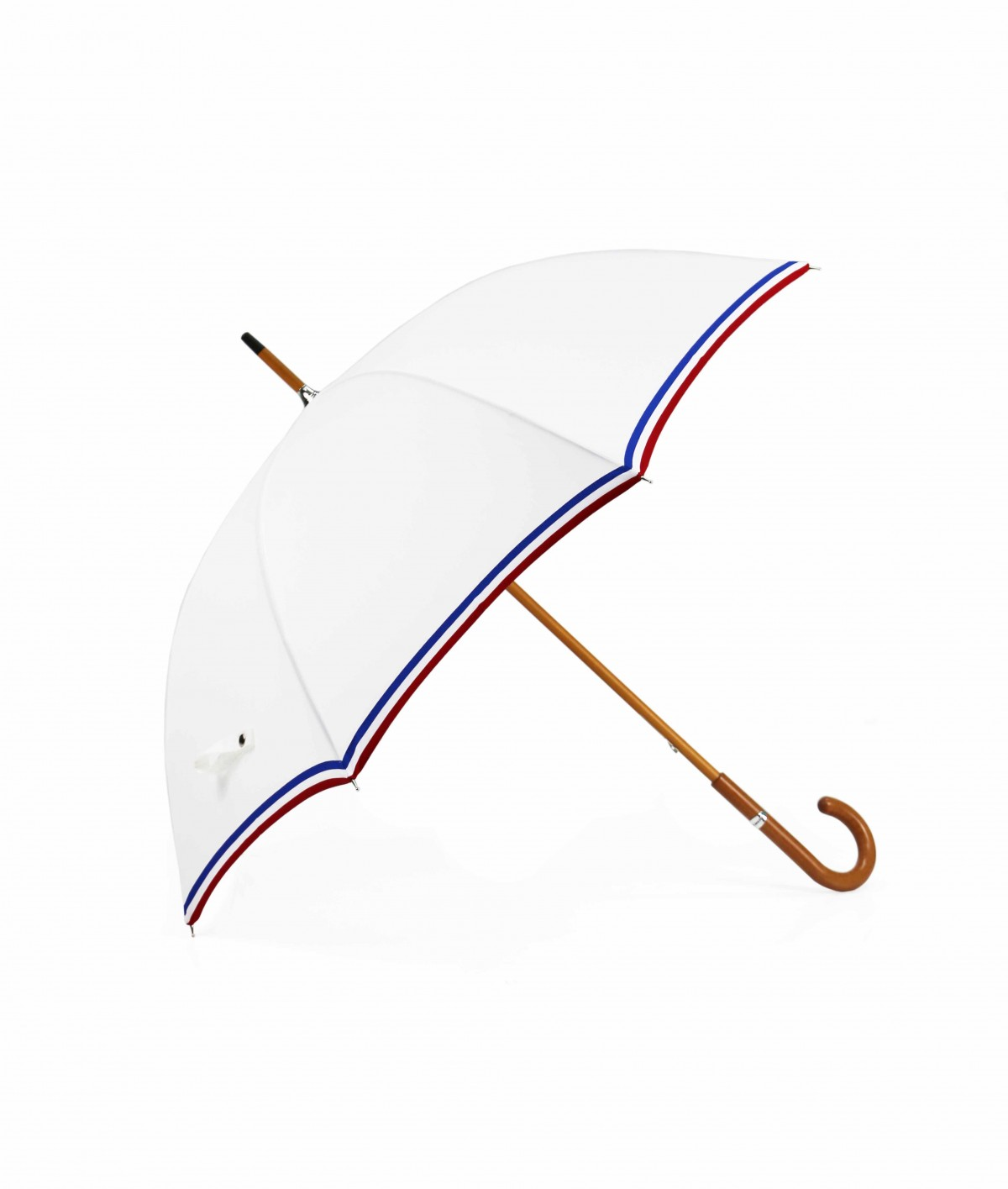 "→ ""The Made in France"" Umbrella - white - Long manual - Handcrafted in France by Maison Pierre Vaux"