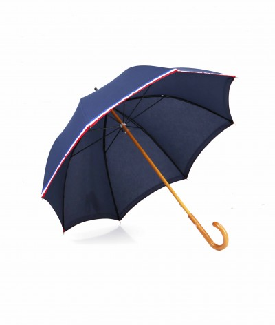 "→ ""The Made in France"" Umbrella - Navy Blue - Long manual - Handcrafted in France by Maison Pierre Vaux"
