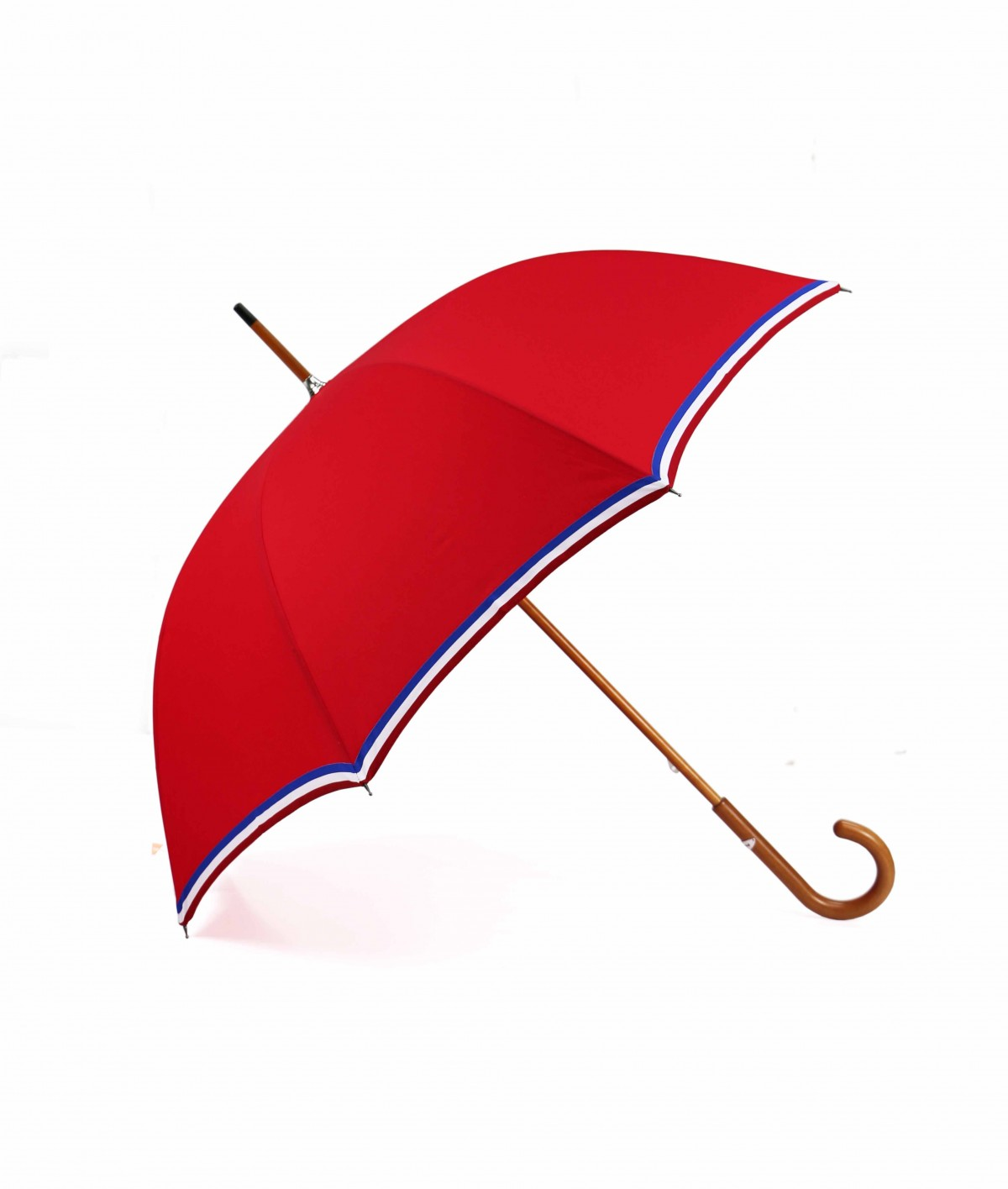 "→ ""The Made in France"" Umbrella - Red - Long manual - Handcrafted in France by Maison Pierre Vaux"