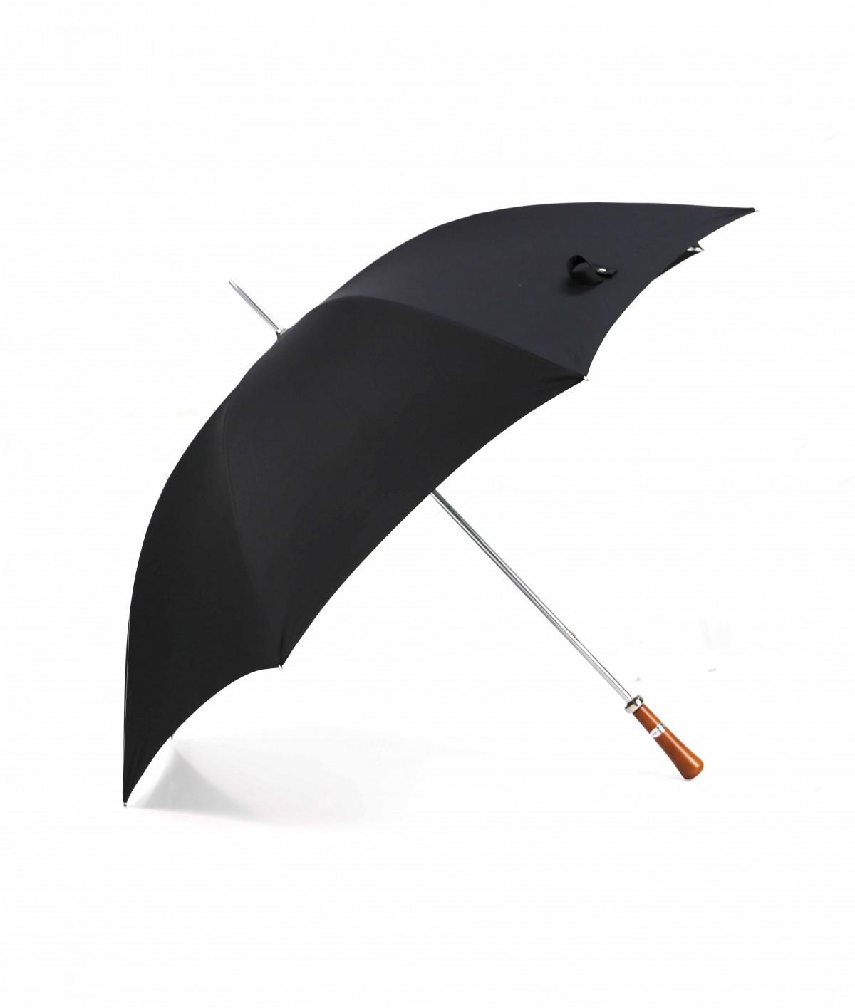 """→ Parapluie """"Le Golf"""" - Noir - Fabrication Traditionnelle à la Main - Maison Pierre Vaux"""
