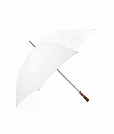 "→ ""The Golf"" Umbrella - Manual - White - Made in France by the French Umbrella Manufacturer Maison Pierre Vaux"