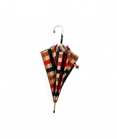 → Parapluie Satin Imprimé Fantaisie - Long Manuel N°2 - Made in France par Maison Pierre Vaux Fabricant Français de Parapluie