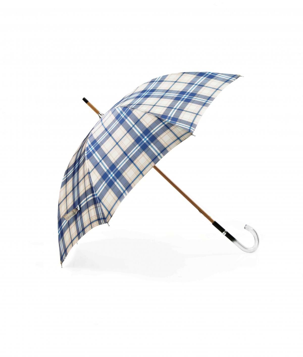→ Fancy Printed Satin Umbrella - Long Manual N°9 - Made in France by Maison Pierre Vaux French Umbrella Manufacturer