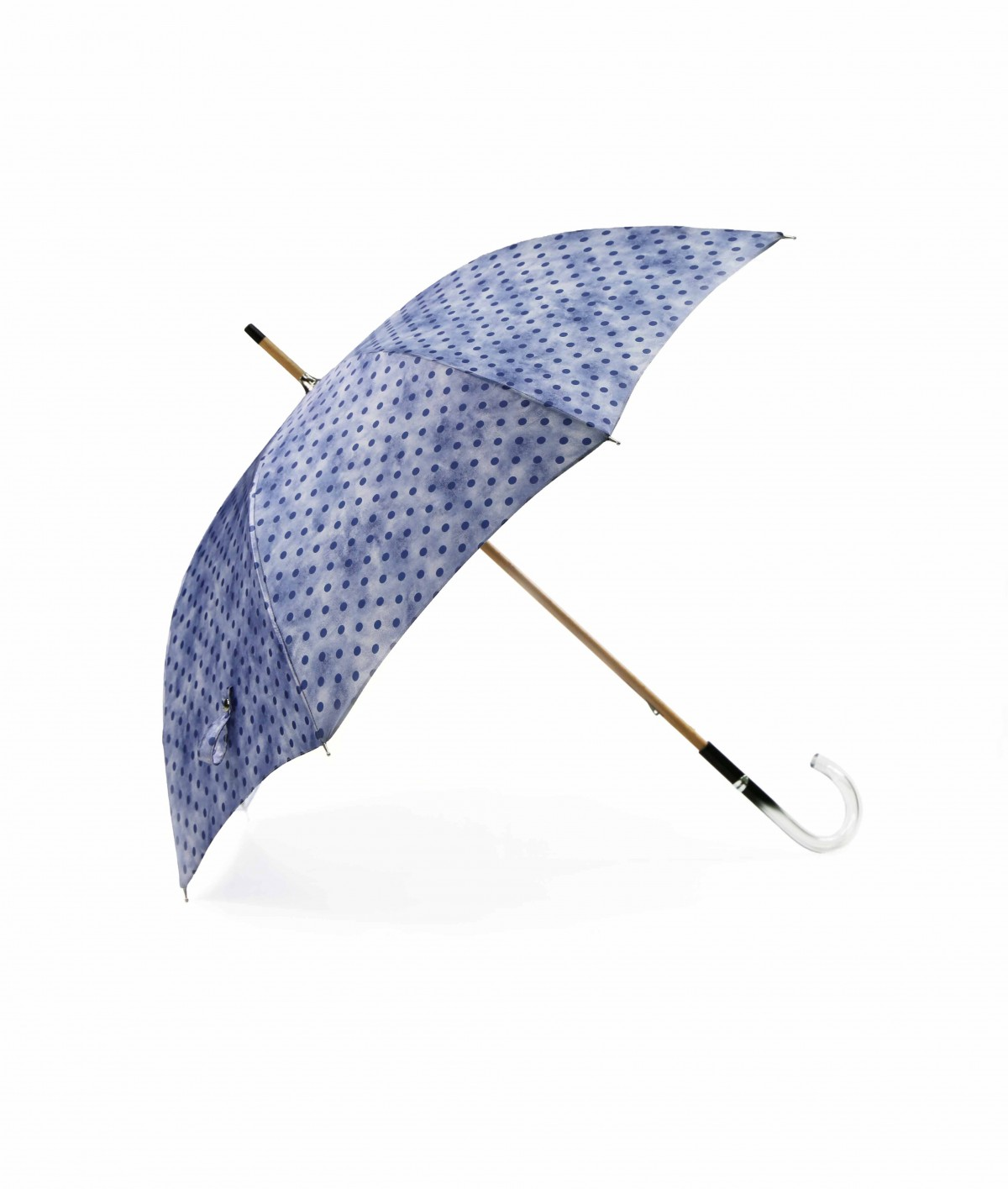 → Fancy Printed Satin Umbrella - Long Manual N°12 - Made in France by Maison Pierre Vaux French Umbrella Manufacturer
