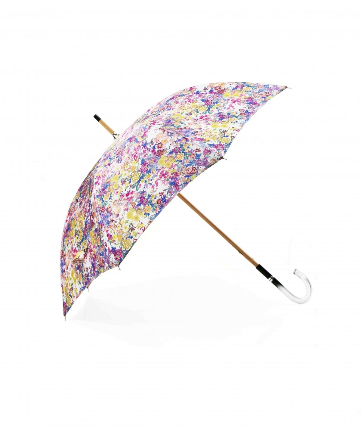 → Parapluie Satin Imprimé Fantaisie - Long Manuel N°14 - Made in France par Maison Pierre Vaux Fabricant Français de Parapluie